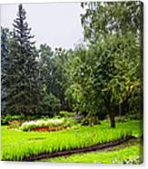 Lovely Garden In St. Petersburg - Russia Canvas Print