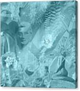 Lovely Mayhem - Ice Blu Canvas Print