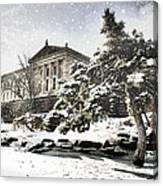 Lovely Snow On The Museum Canvas Print