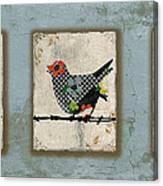 Lovely Song Bird Trio -1 Canvas Print