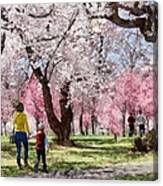 Lovely Spring Day For A Walk Canvas Print