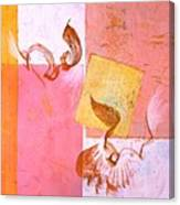Lovers Dance 2 In Sienna And Pink  Canvas Print