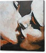 Lovers - Kiss6 Canvas Print
