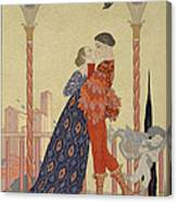 Lovers On A Balcony  Canvas Print