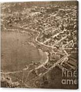 Aerial Of Lovers Point And Pacific Grove California July 10 1906 Canvas Print