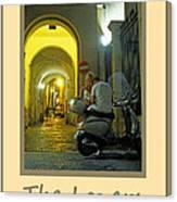 Lovers Sorrento Italy Canvas Print