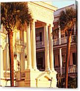 Low Angle View Of Historic Houses Canvas Print