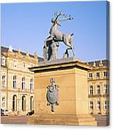 Low Angle View Of Statues In Front Of A Canvas Print