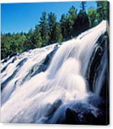 Low Angle View Of The Bond Falls Canvas Print