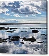 Low Tide At Lyme Regis 2 Canvas Print