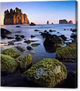 Low Tide At Second Beach Canvas Print
