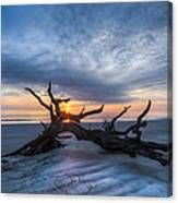Low Tide At Sunrise Canvas Print