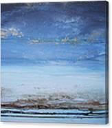 Low Tide Beach Rhythms And Textures Blue Series1a Canvas Print