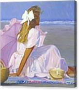 Low Tide Lady Canvas Print