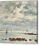 Low Tide Saint Vaast La Hougue Canvas Print