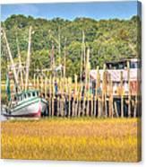 Low Tide - Shrimp Boat Canvas Print