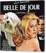 Lowchen Art - Belle De Jour Movie Poster Canvas Print