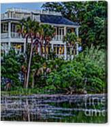 Lowcountry Home On The Wando River Canvas Print