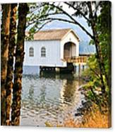 Lowell Covered Bridge Canvas Print