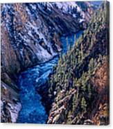 Lower Falls Into Yellowstone River Canvas Print