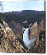 Lower Falls Of The Yellowstone River Canvas Print