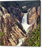 Lower Falls Of Yellowstone Canvas Print