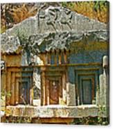 Lower-level Tomb In Myra-turkey Canvas Print