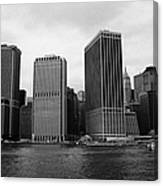 Lower Manhattan Shoreline And Skyline And Financial District Waterfront New York City Canvas Print