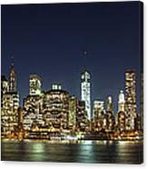 Lower Manhatten Pano Canvas Print