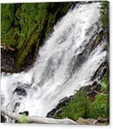 Lower Part Of Red Blanket Falls Canvas Print