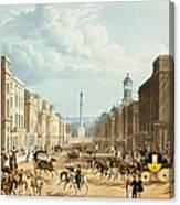 Lower Regent Street, Pub. By Ackermann Canvas Print