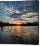Lower Sunset Lake Canvas Print