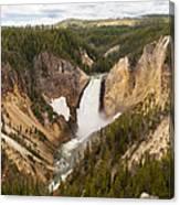Lower Yellowstone Canyon Falls Canvas Print