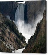 Lower Yellowstone Falls 02 Canvas Print