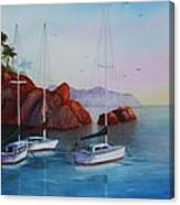 Lowered Sails Canvas Print