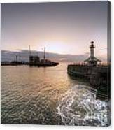 Lowestoft Harbour At Dawn Canvas Print