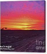 Loxley Al Sunset Dec 2013 I Canvas Print