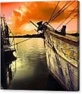 Lsu Shrimp Boat Canvas Print