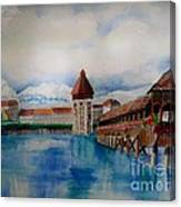 Lucerne Bridge Canvas Print