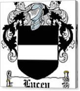 Lucey Coat Of Arms Irish Canvas Print