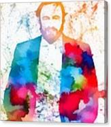 Luciano Pavarotti Paint Splatter Canvas Print