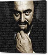 Luciano Pavarotti Canvas Print