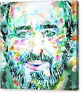 Luciano Pavarotti - Watercolor Portrait Canvas Print