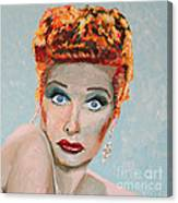 Lucille Ball Portrait Canvas Print