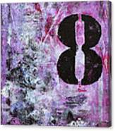 Lucky Number 8 Pink Black White Abstract By Chakramoon Canvas Print