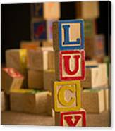 Lucy - Alphabet Blocks Canvas Print