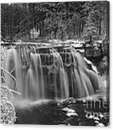 Ludlowville Falls In Winter I Canvas Print