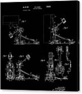 Ludwig Drum Pedal 4 Patent Art 1951 Canvas Print