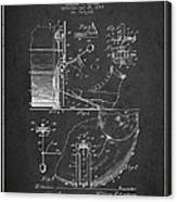 Ludwig Foot Pedal Patent Drawing From 1909 - Dark Canvas Print