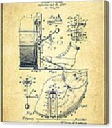 Ludwig Foot Pedal Patent Drawing From 1909 - Vintage Canvas Print